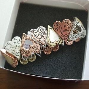 Lia Sophia stretch heart bracelet